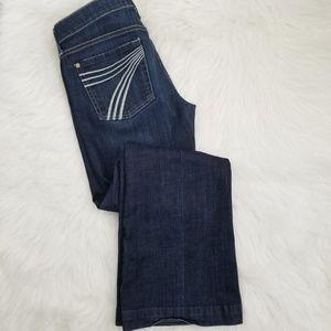 7 FAM Dojo Blue Jeans size 27